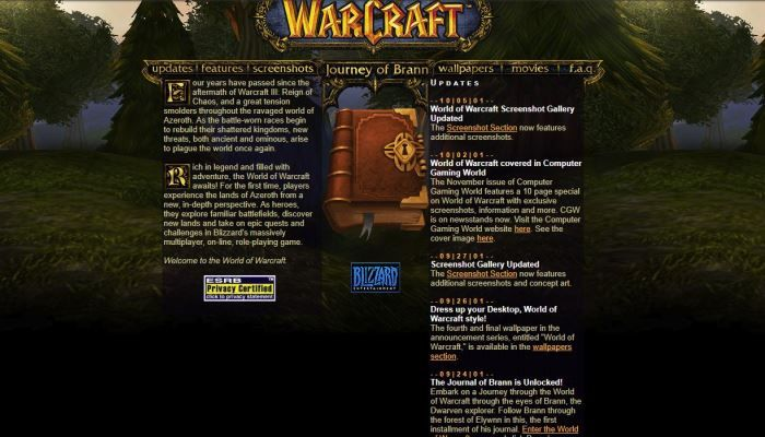The Wayback Machine Peeks Into WoW's Past - MMORPG.com