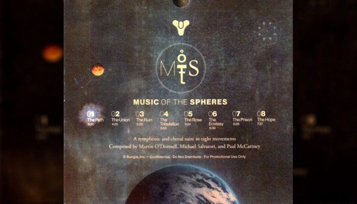 Music of the Spheres is the Unreleased Album from Destiny 1 - Destiny News