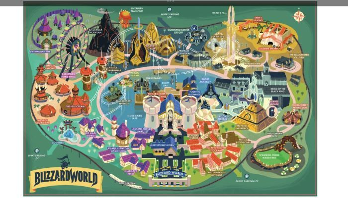 Blizzard world map is great art for your wall overwatch mmorpg physical blizzard world map is great art for your wall overwatch mmorpg gumiabroncs Choice Image