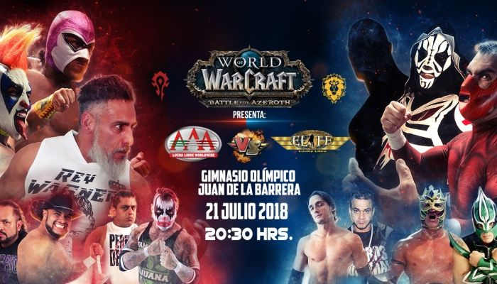 Lucha LIbre Battle Pits Alliance vs Horde in Innovative Battle for Azeroth Campaign - World of Warcraft News