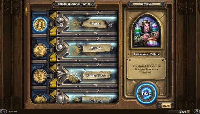 The Puzzle Labs Single Player Campaign Enters  The Boomsday Project - Hearthstone News
