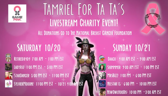 Elder Scrolls Online Community to Sponsor 'Tamriel for Ta Tas' Charity Livestream