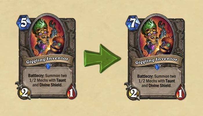 Three Hearthstone Cards to Receive Balance Tuning in October 18th Update