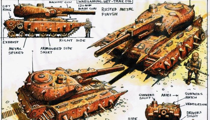 Mad Max: Fury Road Concept Artist Peter Pound Designs New World of Tanks Blitz Vehicles