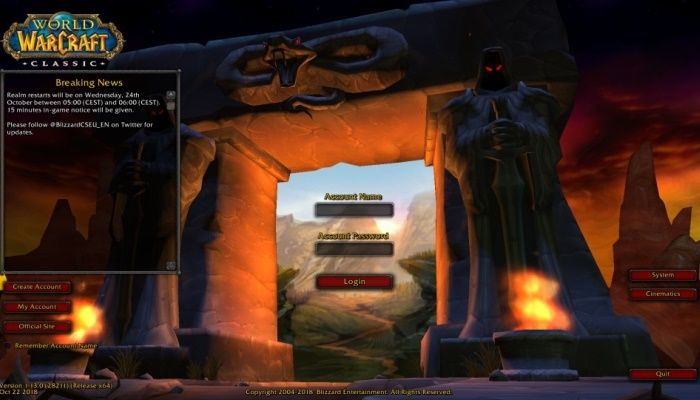 Virtual Ticket Holders Can Prepare by Downloading the World of Warcraft Classic Demo