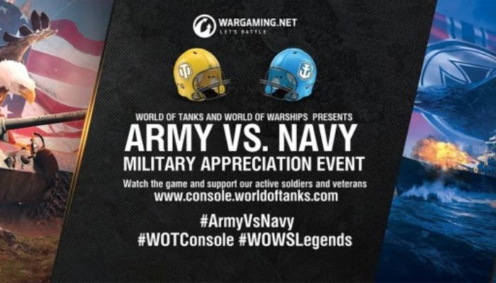 Wargaming Hosting Army-Navy Game Viewing Parties Around the Globe