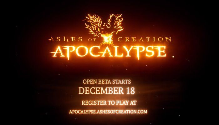Ashes of Creation Apocalypse to Launch Open Beta on December 18th for Windows PC - Ashes of Creation News