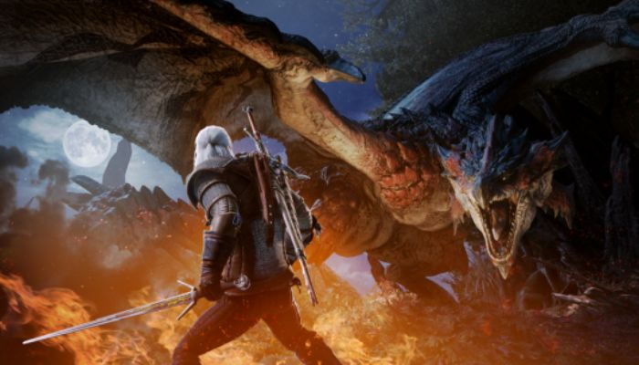 Geralt of Rivia Coming to Monster Hunter World on Consoles in Early 2019