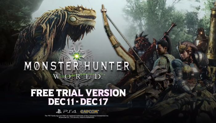 Monster Hunter World Free Trial Week Begins for PlayStation 4 & XBox One Players