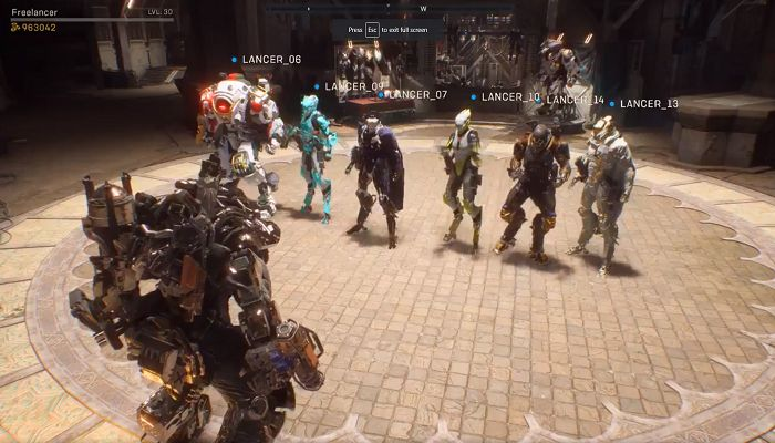 Anthem Devs Add Multiplayer Hub called 'Launch Pad' for Up to 16 Players