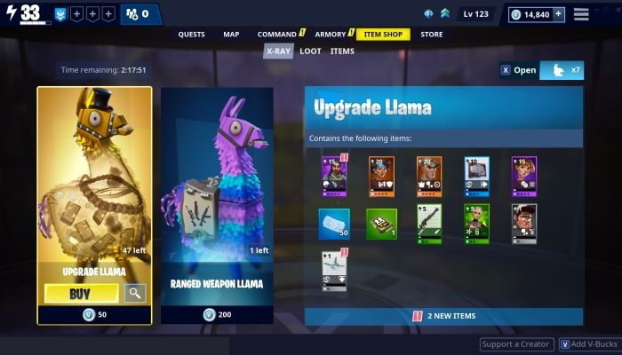 Fortnite's New 'X-Ray Llamas' Will Let Players See Box Contents Before Purchase