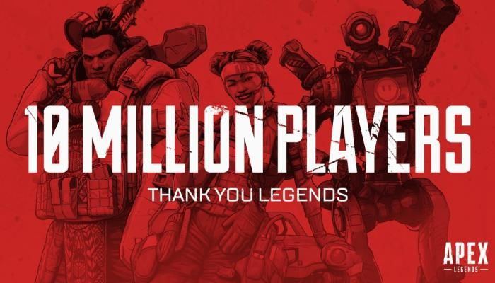 Within 72-Hours, Apex Legends Sees 10M Unique Players & Over 1M Concurrent