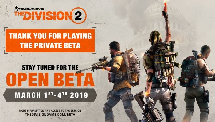 The Division 2 Open Beta to Run from March 1st to March 4th