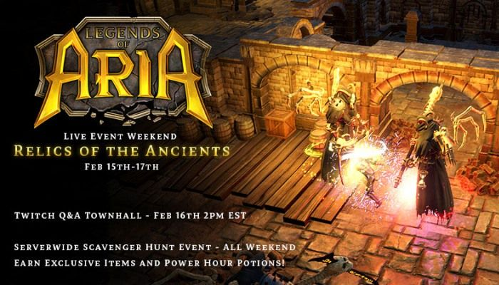 Legends of Aria Players Invited to a Scavenger Hunt From February 15-17