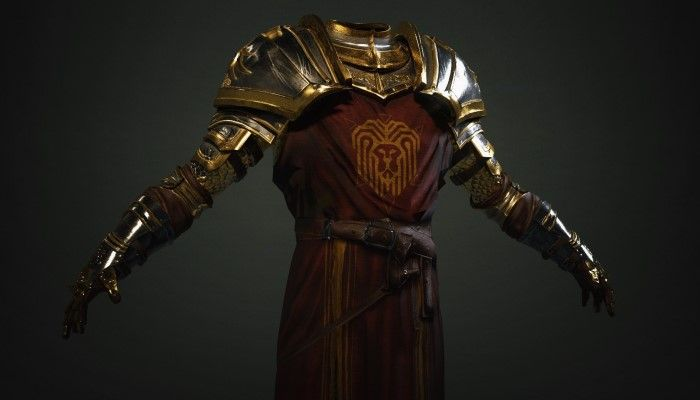 Ashes of Creation Team Reveals the Regalia of the Iron Lion Armor Set