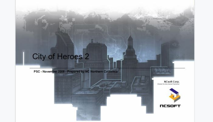 The Game That Never Would Be: Leaked Documents Show City of Heroes 2 Concepts