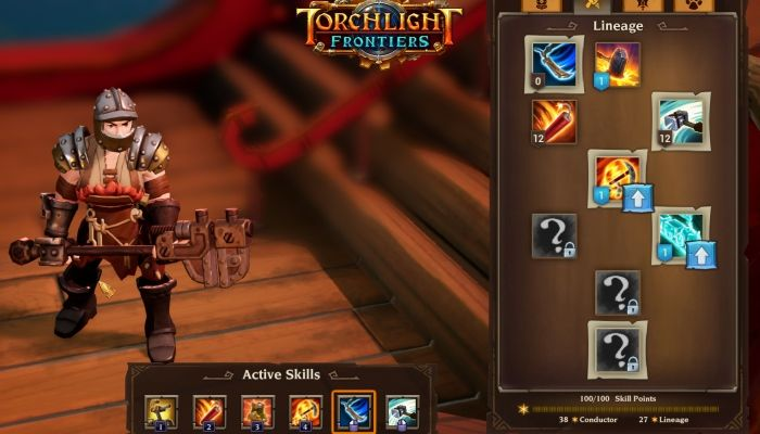 Torchlight Frontiers Team Details Skill Progression & Leveling
