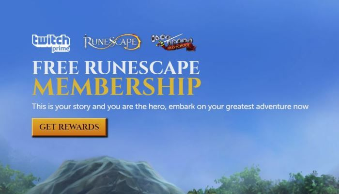 RuneScape / Old School RuneScape Twitch Prime Members Score Months of Goodies
