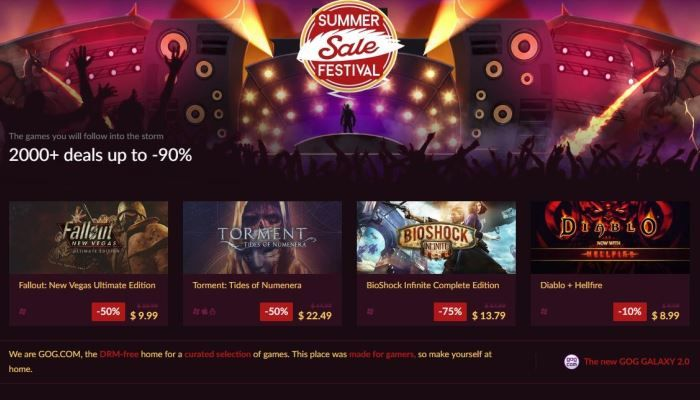 GoG.com Kicks Off Its Summer Sale with Some Screamin' Deals