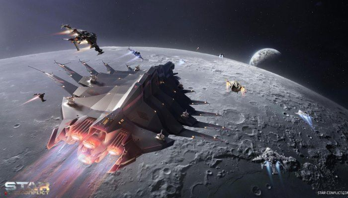 During Star Conflict's Moon Landing Anniversary Event, You Can Snag a Free Ship