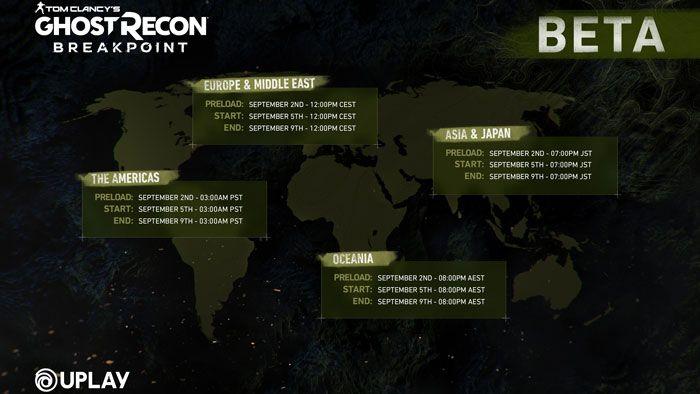 Ghost Recon Breakpoint Beta Schedule Live