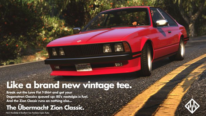 GTA Online Features a New Ubermacht Zion Classic car, Plus Double Rewards This Week