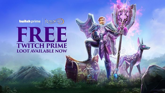 Twitch Prime members receive exclusive RuneScape Rewards and Giveaways From Now Until February 2020