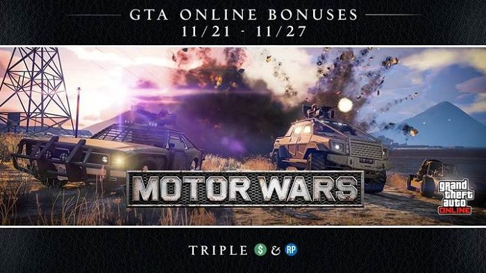 GTA Online Features Triple Rewards in Motor Wars, More