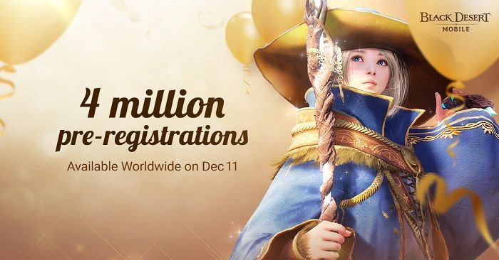 Black Desert Mobile Hits 4 Million Pre-Registrations, Giveaway Underway