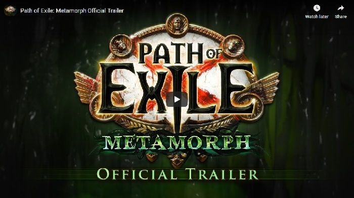 Path of Exile Metamorph Challenge League Rewards Details Shared