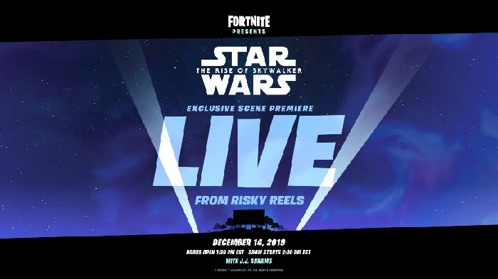 Fortnite Hosting Official Rise of the Skywalker Scene in In-Game Theater