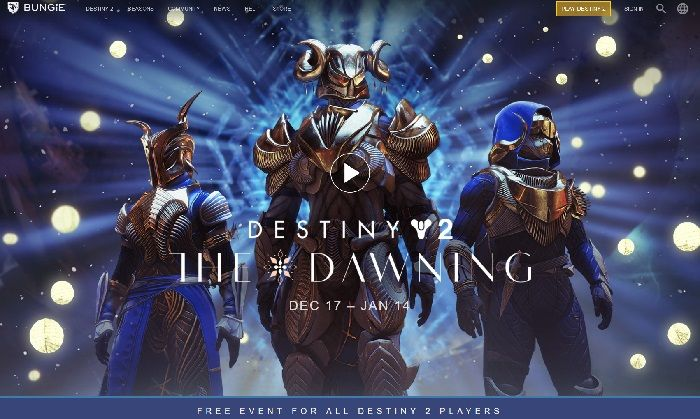 The Dawning Comes to Destiny 2 on December 17