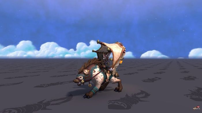 WoW Visions of N'Zoth Caravan Hyena Mount Previewed