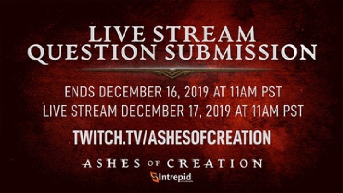 Ashes of Creation MMO Q&A Live Stream Today at 2p ET