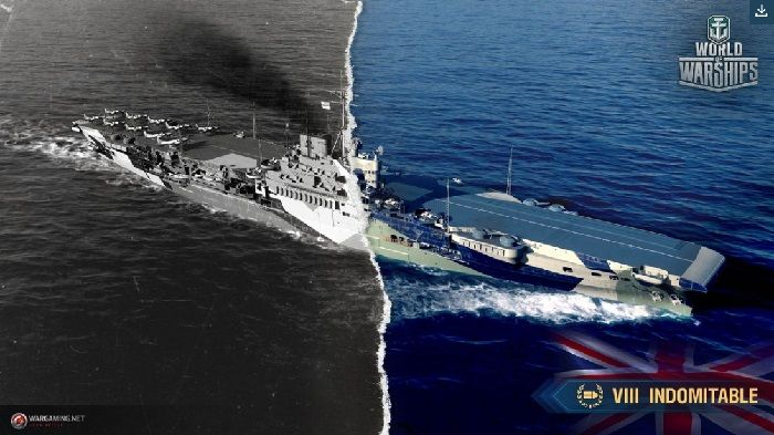 World of Warships Showcases HMS Indomitable