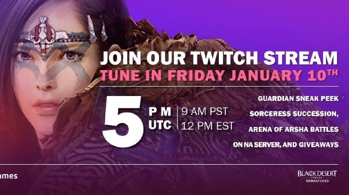 Black Desert to Preview Guardian Class Tomorrow in Live Stream