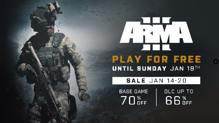 Arma 3 Free Week On Now Through January 20