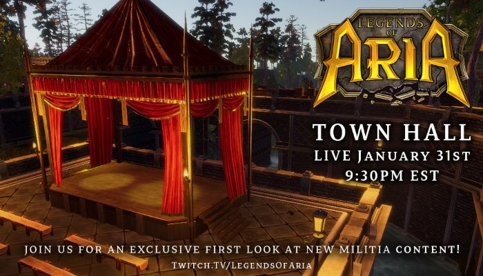 Legends of Aria Is Hosting A Town Hall On January 31