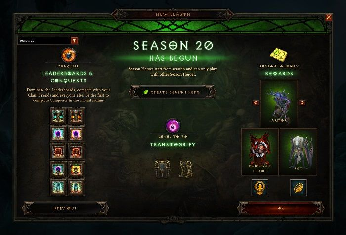 Diablo 3 Season 20 Begins March 13, Patch Notes Are Here