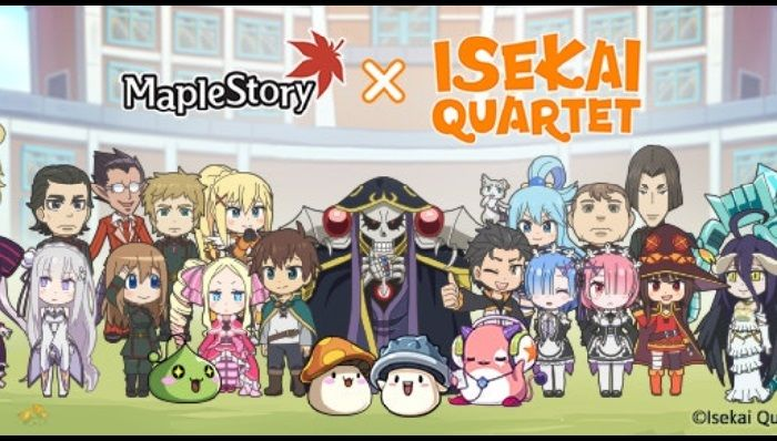 MapleStory Receives ISEKAI QUARTET Crossover Event in March 11