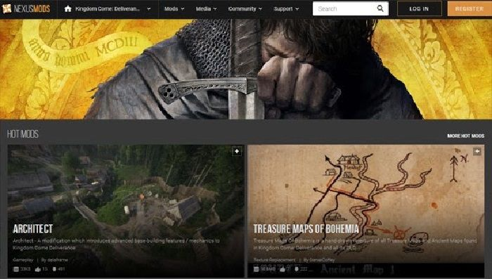 Kingdom Come Deliverance Receives New Mods