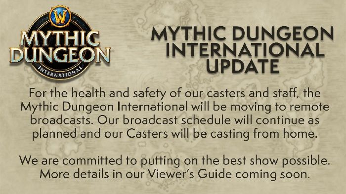 World of Warcraft Mythic Dungeon Invitational Moves To Remote Broadcasts