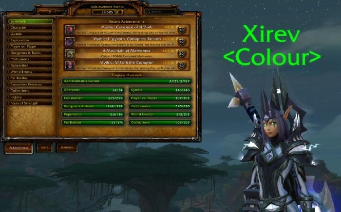 Someone Earned Every Battle for Azeroth Achievement in World of Warcraft