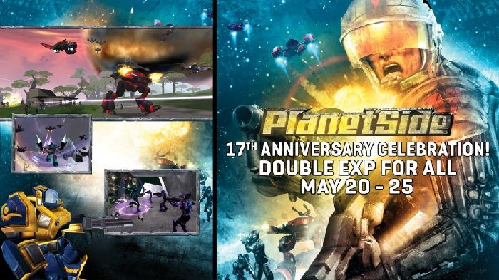 PlanetSide Celebrates 17th Anniversary with Double XP