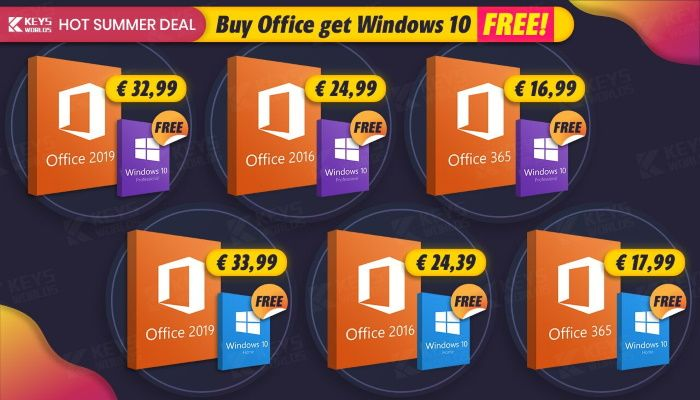 Hot Summer Deal: Buy Office, Get Windows 10 For Free! (SPONSORED)
