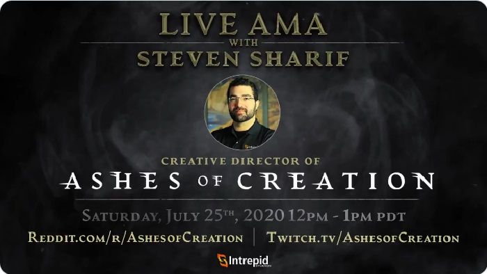 Ashes of Creation AMA Tomorrow, July 25