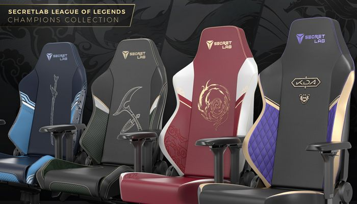Secret Lab Releases League of Legends-themed Chair Collection