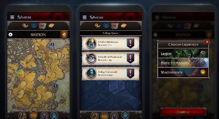 La aplicación WoW Companion te permite administrar tus aventuras de Shadowlands