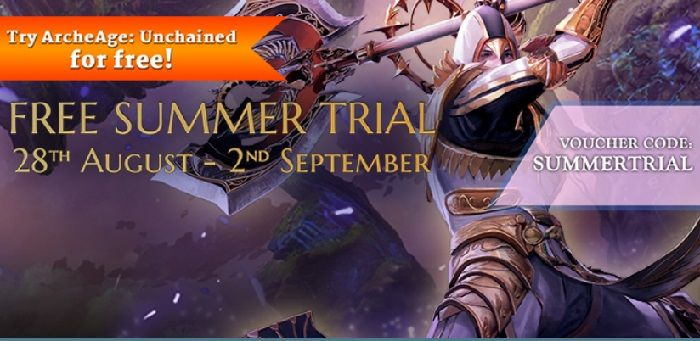 Reminder, ArcheAge Unchained Free Summer Trial Ends September 2