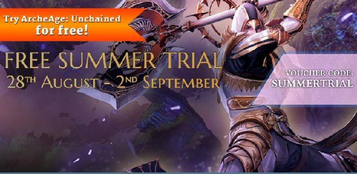 Recordatorio, la prueba gratuita de verano de ArcheAge Unchained finaliza el 2 de septiembre